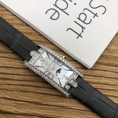 Harry Winston Avenue 32.3*15.6mm 18K White Gold White Mother Of Pearl Quartz AVCQMP16WW001