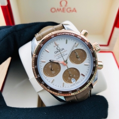 OMEGA Speedmaster 38mm Steel-Gold Brown Dial Automatic 324.23.38.50.02.002