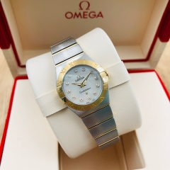 OMEGA Constellation 24mm Steel-Yellow Gold White Dial Quartz 123.20.24.60.55.002