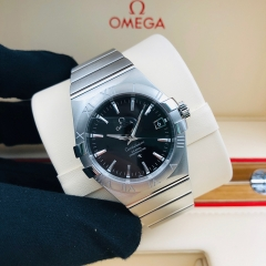 OMEGA Constellation 35mm Stainless Steel Black Dial Automatic 123.10.35.20.01.001