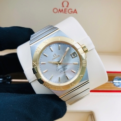 OMEGA Constellation 38mm Steel-Yellow Gold Silver Dial Automatic 123.20.38.21.02.002
