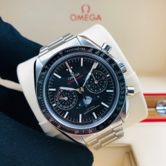OMEGA Speedmaster Moonwatch  44.25mm Stainless Steel Black Dial Automatic 304.30.44.52.01.001