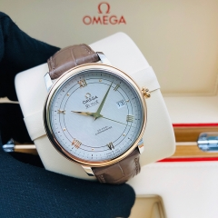 OMEGA De Ville Prestige 39.5mm Steel-Rose Gold Silver Dial Automatic  424.23.40.20.02.002