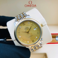 OMEGA De Ville Prestige 39.5mm Steel-Yellow Gold Champagne Dial Automatic  424.20.40.20.58.001