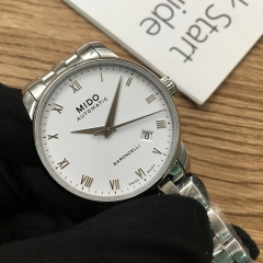 MIDO Baroncelli 38mm Stainless Steel White Dial Automatic M8600.4.26.1