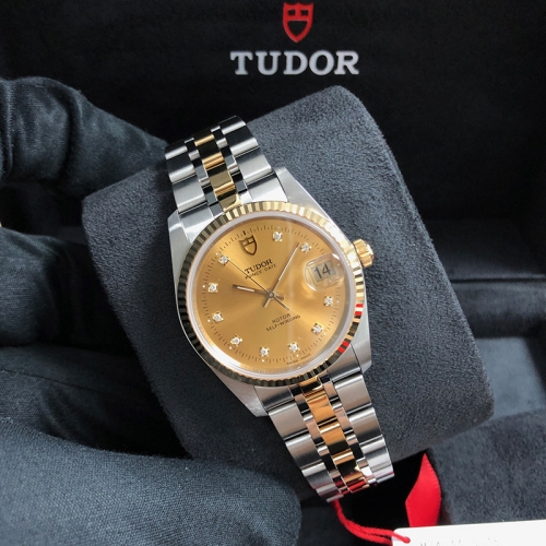 Tudor Prince Date 34mm Steel-Yellow Gold Champagne Automatic M74033-0015