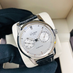 GLASHUTTE Senator Hand Date 40mm Stainless Steel White Dial Automatic 1-39-58-02-02-04