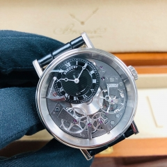 Breguet Tradition 40mm Black Dial 18K White Gold Automatic 7057BB/G9/9W6