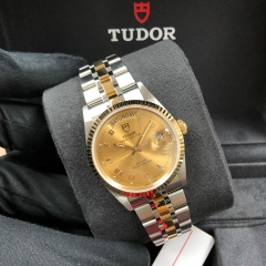 Tudor Prince Date 36mm Steel-Yellow Champagne Dial Automatic M76213-0021