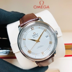 OMEGA De Ville Prestige 39.5mm Stainless Steel Silver Dial Automatic 424.13.40.20.02.002