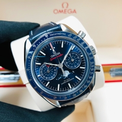 OMEGA Speedmaster Moonwatch  44.25mm Stainless Steel Blue Dial Automatic 304.33.44.52.03.001
