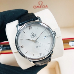OMEGA De Ville Prestige 39.5mm Stainless Steel Silver Dial Automatic 424.13.40.20.02.001