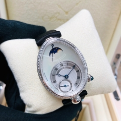 Breguet Reine De Naples 28.5*33mm Mother of Pearl Dial 18K White Glod Automatic 8908BB/52/864/D00D