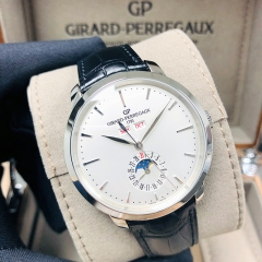 GIRARD PERREGAU 1966 Stainless Steel 40mm Silver Dial Automatic 49535-11-131-BB60