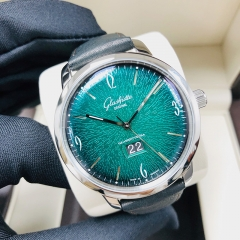GLASHUTTE Vintage Sixties Chronograph 42mm Stainless Steel Green Dial Automatic 2-39-47-04-02-04