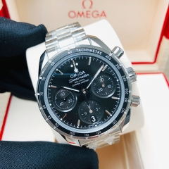 OMEGA Speedmaster 38mm Stainless Steel Black Dial Automatic 324.30.38.50.01.001