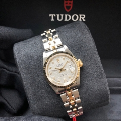 Tudor Princess Date 25mm Steel-Yellow Gold Silver Dial Automatic M92413-0010