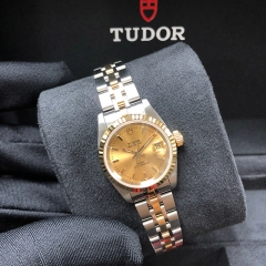 Tudor Princess Date 25mm Steel-Yellow Gold Champagne Dial Automatic M92413-0009