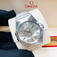 OMEGA Constellation 38mm Stainless Steel Silver Dial Automatic 123.10.38.21.02.001