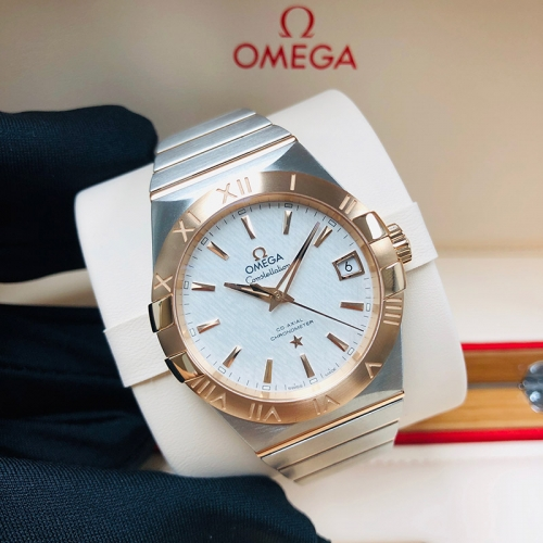 OMEGA Constellation 38mm Steel-Rose Gold White Dial Automatic 123.20.38.21.02.007