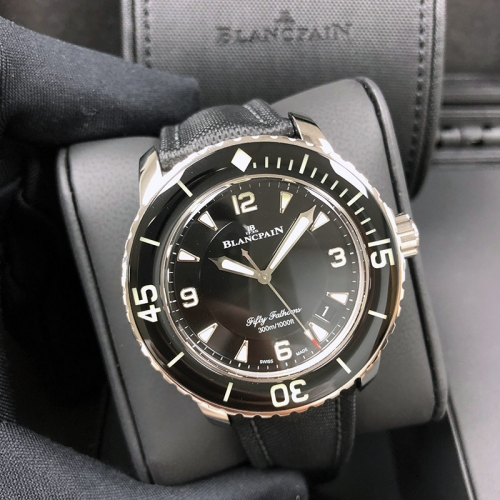 Blancpain Fifty Fathoms 45mm Stainless Stee Black Dial Automatic 5015-1130-52B