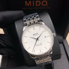 MIDO Baroncelli 39MM Stainless Steel White Dial Automatic M027.407.11.010.00