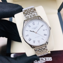 LONGINES Presence 35MM Stainless Steel White Dial Automatic L4.860.4.11.6