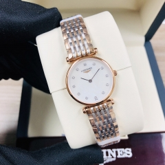 LONGINES La Grande Classique De 24MM Stainless Steel With Rose Gold PVD Coating Mother of Pearl Dial Quartz L4.209.1.97.7