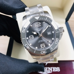 LONGINES Hydroconquest 43MM Stainless Steel Gray Dial Automatic L3.782.4.76.6