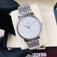 LONGINES Presence 34.5MM Stainless Steel White Dial Automatic L4.821.4.12.6