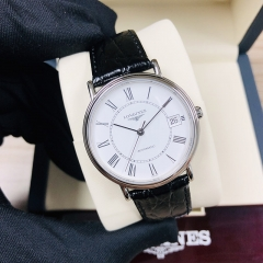 LONGINES Presence 34.5MM Stainless Steel White Dial Automatic L4.821.4.11.2