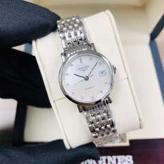 LONGINES  The Longines Elegant Collection 25.5MM Stainless Steel Mother of Pearl Dial Automatic L4.309.4.87.6