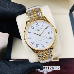 LONGINES Presence 35MM Stainless Steel With Yellow Gold PVD Coating White Dial Automatic L4.860.2.11.7