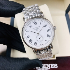 LONGINES Presence 38.5MM Stainless Steel White Dial Automatic L4.805.4.11.6