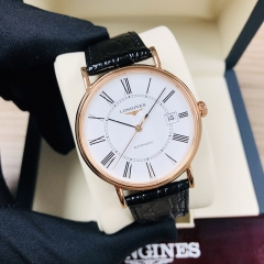 LONGINES Presence 38.5MM Stainless Steel With Rose Gold PVD Coating White Dial Automatic L4.921.1.11.2