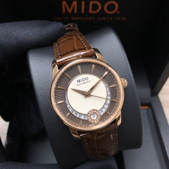 MIDO Baroncelli 33mm Stainless steel with PVD coating Brown Dial Automatic M007.207.36.291.00