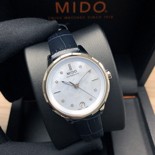 MIDO Rainflower 34MM Stainless Steel Light Blue Dial Automatic M043.207.16.131.00