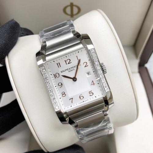 Baume & Mercier Hampton 40*27.1mm Stainless Steel White Dial Quartz MOA10023