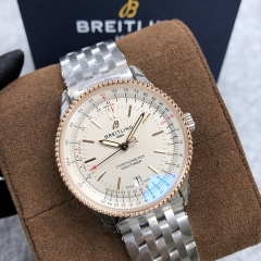 BREITLING Navitimer 1 38MM Steel-Rose Gold White Dial Automatic U17325211G1A1