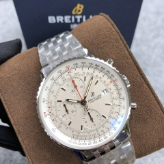 BREITLING Navitimer 1 B01 Chronograph 41MM Stainless Steel Silver Dial Automatic A13324121G1A1