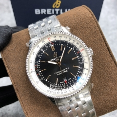 BREITLING Navitimer 1  41MM Stainless Steel Black Dial Automatic A17326211B1A1