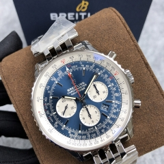 BREITLING Navitimer 1 B01 Chronograph 46MM Stainless Steel Blue Dial Automatic AB0121211C1A1