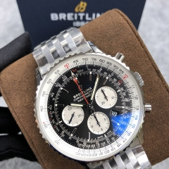 BREITLING Navitimer 1 B01 Chronograph 46MM Stainless Steel Black Dial Automatic AB0127211B1A1