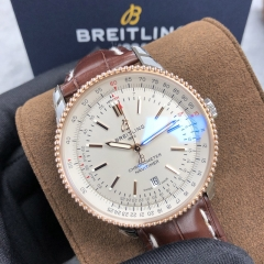 BREITLING Navitimer 1 41MM Steel-Rose Gold White Dial Automatic U17326211G1P1