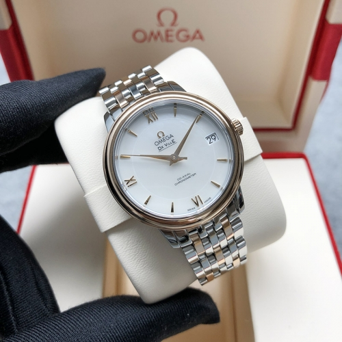 OMEGA De Ville Steel-Rose Gold 33MM White Dial Automatic 424.20.33.20.05.002