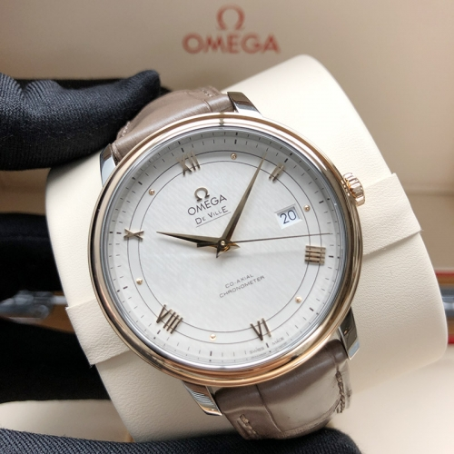 OMEGA De Ville Steel-Rose Gold 39.5MM Silver Dial Automatic 424.23.40.20.02.003