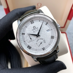 Omega De Ville Stainless Steel 40MM Silver Silk Dial Automatic 424.13.40.21.02.004