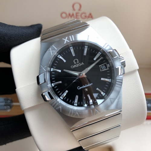 OMEGA Constellation Stainless Steel 35MM Black Dial Quartz 123.10.35.60.01.001