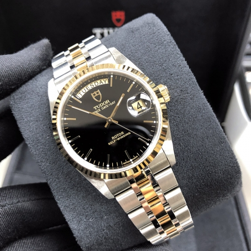 Tudor Prince Date Day 36mm Steel-Yellow Gold Black Dial Automatic M76213-0010